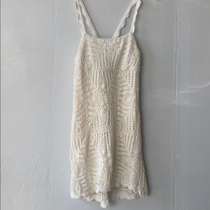 Zara White Summer Crochet Dress